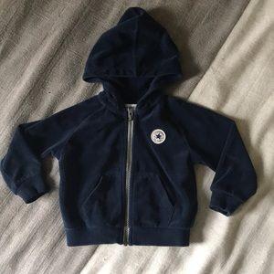 4 for $25 Converse navy velour zip up hoodie